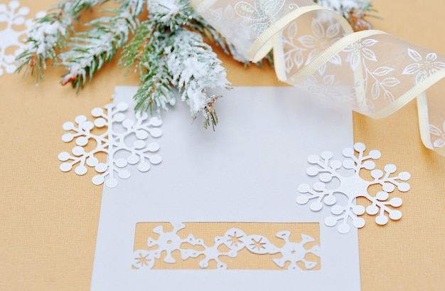 Christmas decoration with place for your text invitation.