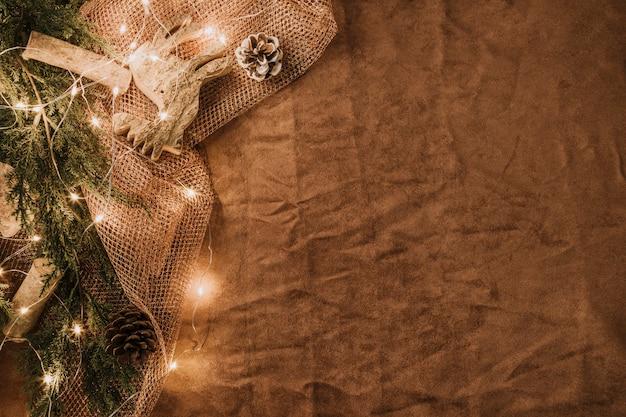 Новогоднее украшение с пространством и подсветкой