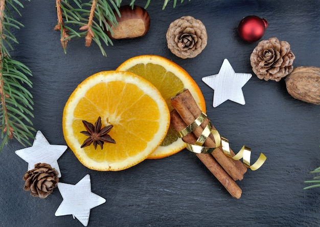Christmas decoration with spices