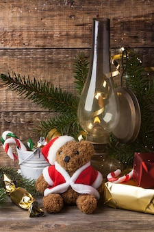 テディベアとのクリスマスの装飾