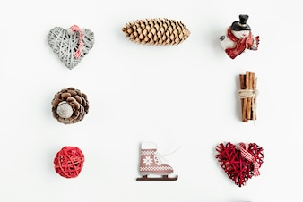 Christmas decorations and objects for mock up template design.