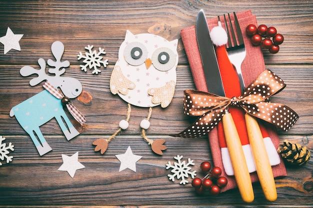 크리스마스 장식 새 해 복 많이 받으세요 개념