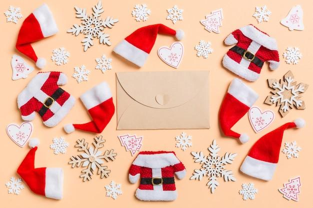 크리스마스 장식들. 새해 복 많이 받으세요 개념입니다.