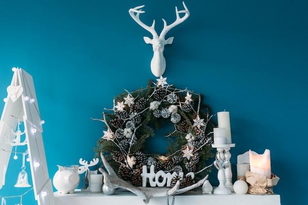 スタジオでのクリスマスデコレーション、クリスマスムード、美しい