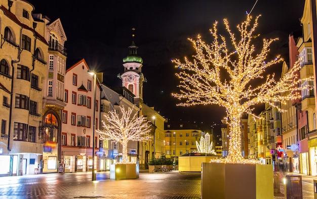 Christmas decorations in innsbruck - austria