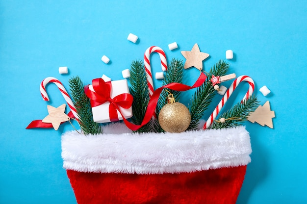 Christmas decorations in santa hat