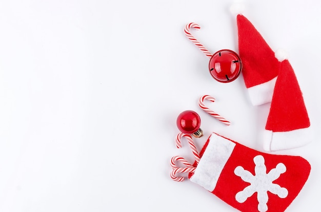 Christmas decorations on white surface