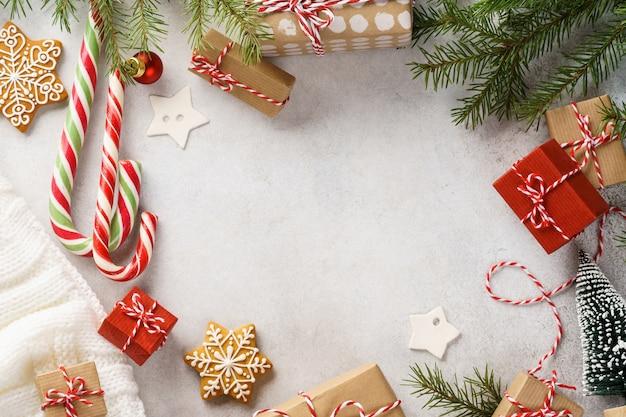선물 상자, 과자 및 장식 크리스마스 장식
