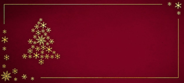 Christmas decorations with golden snowflakes