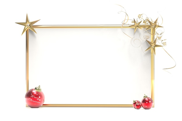 Christmas decorations with placard