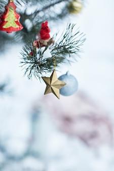 クリスマスの飾り。
