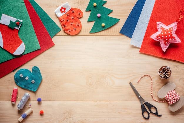 크리스마스 diy 펠트 장식품 크리스마스와 새해 공예 아이디어