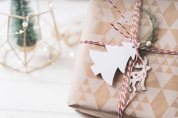 빈 전나무 나무 태그 크리스마스 에코 선물