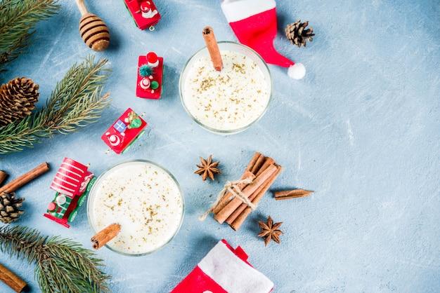 クリスマスのエッグノッグカクテル、クリスマス装飾