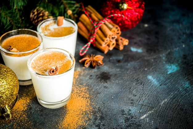 Christmas eggnog liqueur