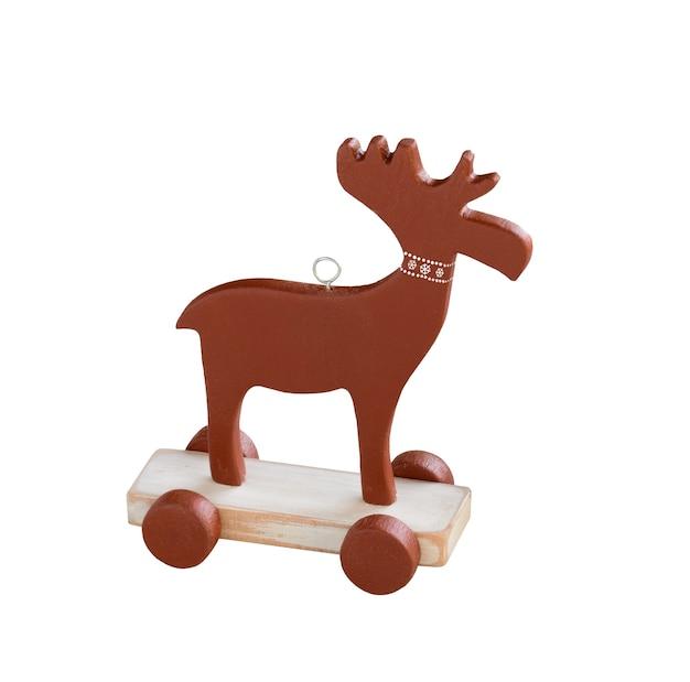 分離されたクリスマスのエルクの飾り