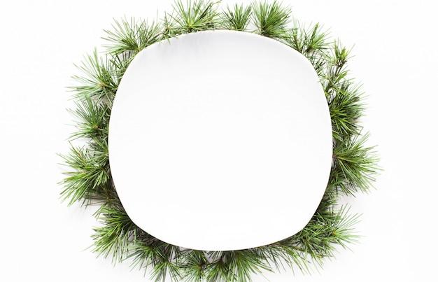Christmas empty dish background
