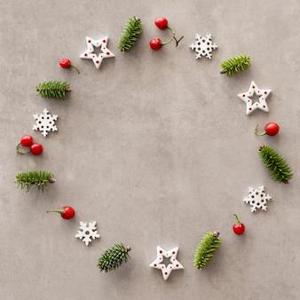 복사 공간 크리스마스 이브 요소