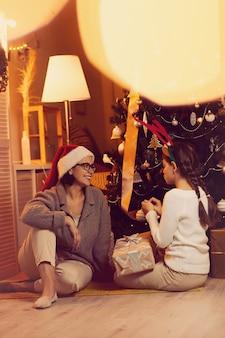 家族と一緒にクリスマスイブ
