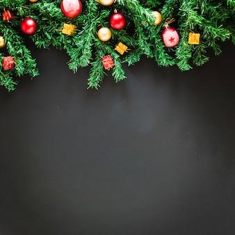 Christmas figures and space on bottom