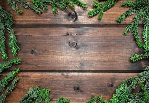 クリスマスのモミの木の枝
