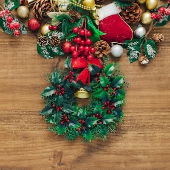 Christmas fir with ornaments