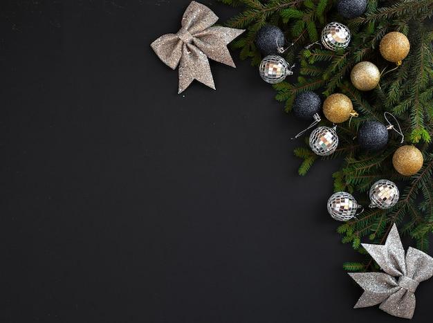 Рождественская плоская рамка