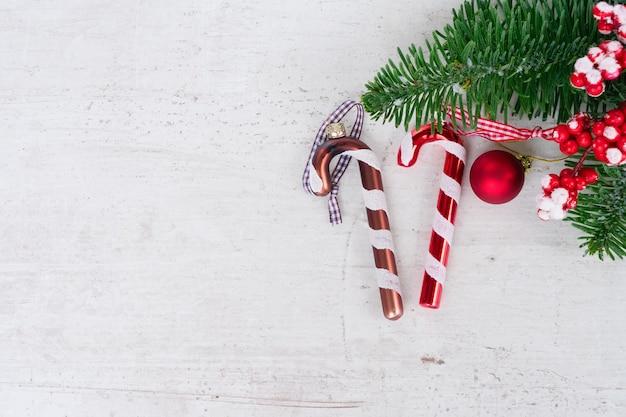 Рождественская плоская сцена в стиле с копией пространства