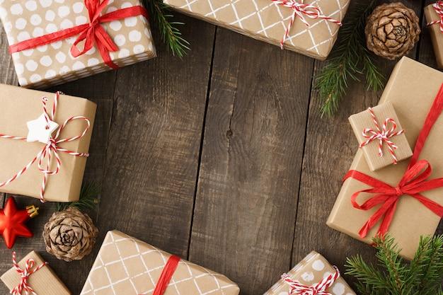 선물 상자, 장난감 및 장식 크리스마스 프레임