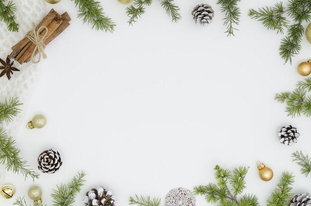 Christmas frame. xmas, new year trendy design