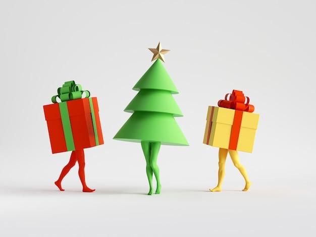 Рождественские забавные герои мультфильмов игрушки