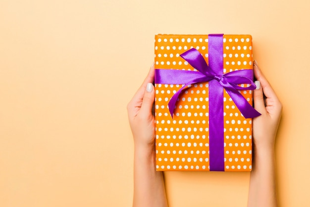 Christmas gift box. happy new year concept.