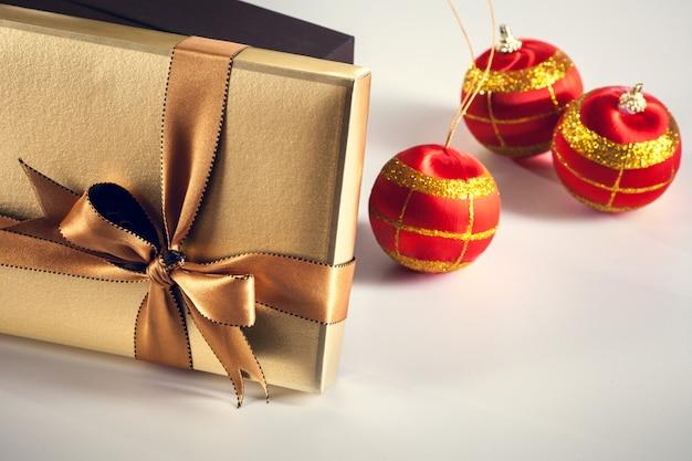 Christmas gift box. new year background
