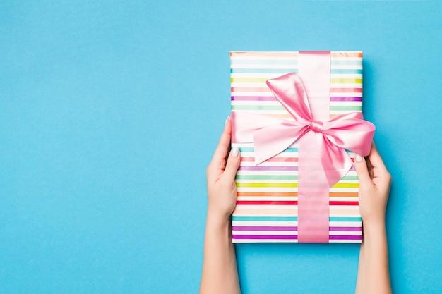 파란색, 최고보기에 크리스마스 선물 상자