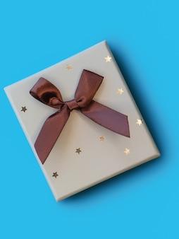 青に弓のクリスマスギフトボックス Premium写真