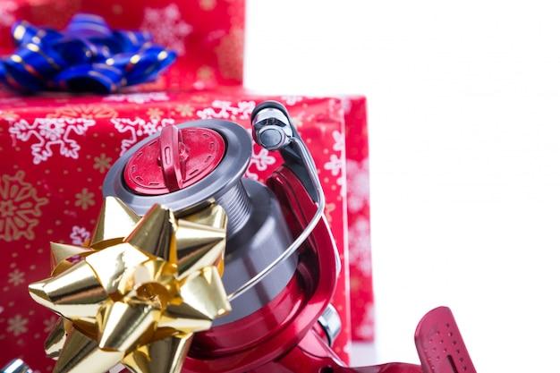 Рождественский подарок в коробке для рыбаков