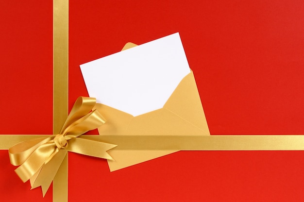 Christmas gift with blank invitation