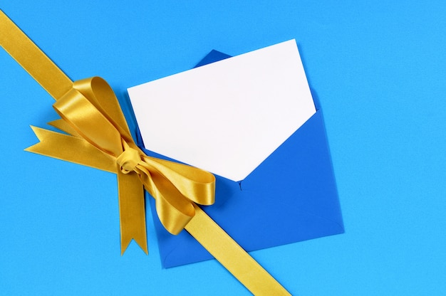 Christmas gift with blue card