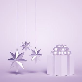 リボンと星のクリスマスプレゼント