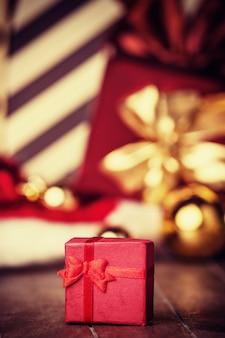 크리스마스 선물. 빈티지 스타일의 사진입니다.