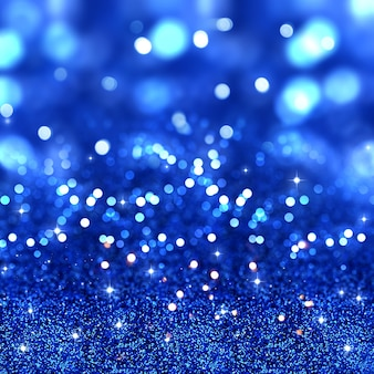 Christmas glitter background with stars and bokeh lights