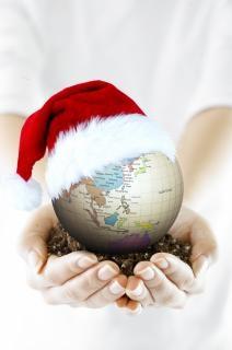 Christmas globe  merry