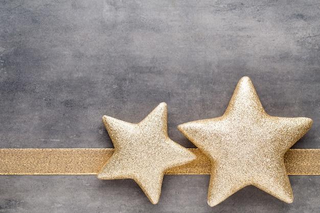 Christmas gold stars. christmas decoration background