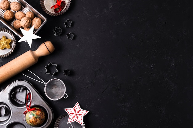 Christmas goodies with copy space
