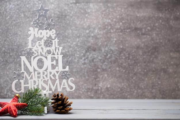 Christmas greeting card, retro symbol xmas.