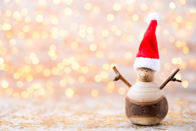 クリスマスの素朴な装飾が施されたクリスマスグリーティングカード
