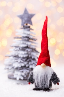 Рождественская открытка с рождественскими украшениями в деревенском стиле Premium Фотографии