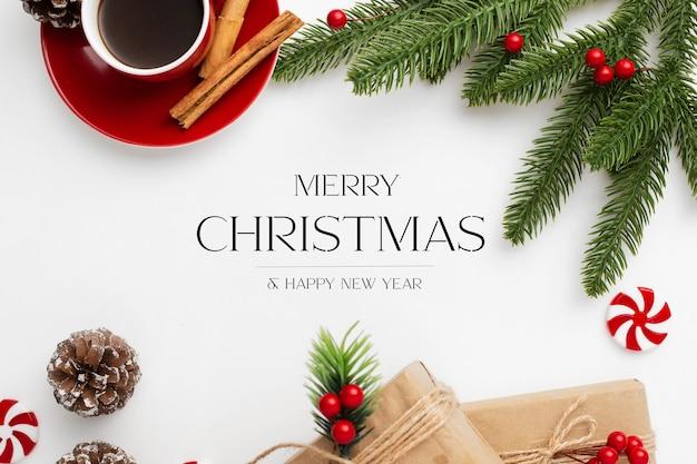 흰색 바탕에 크리스마스 인사말