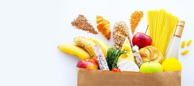 크리스마스 식료품 가방새해 식료품 패키지 명절 살라미를 위한 음식 배달