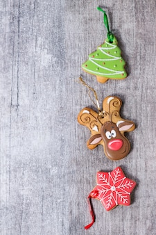 Christmas handmade patterned gingerbreads